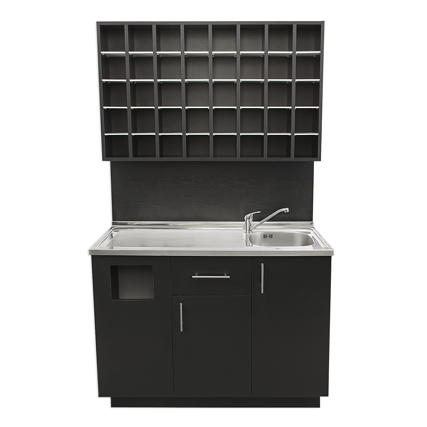4' Color Mixing Station with Sink and Stainless Steel Counter alternative product image 4