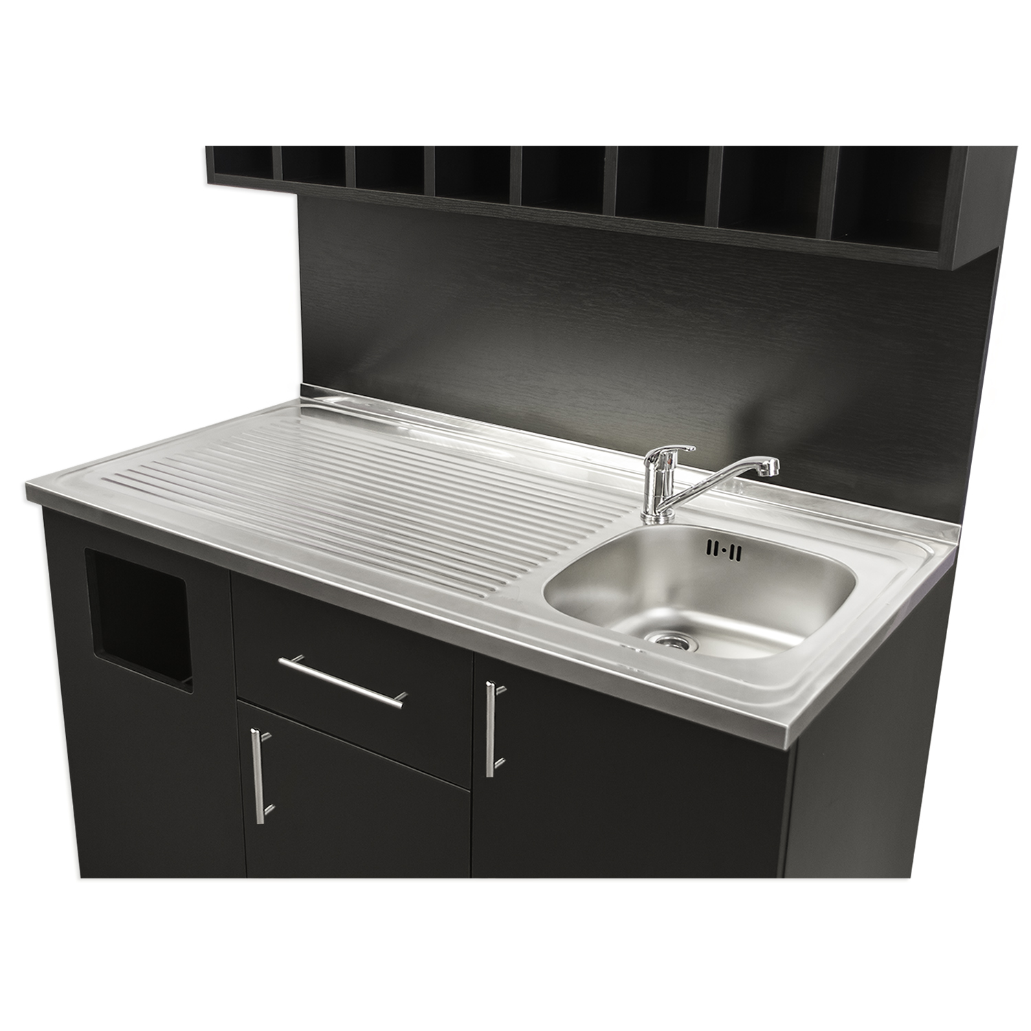 4' Color Mixing Station with Sink and Stainless Steel Counter alternative product image 3