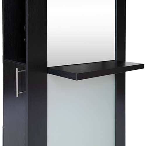 Lauren Full-Length Mirrored Styling Station Black alternative product image 3