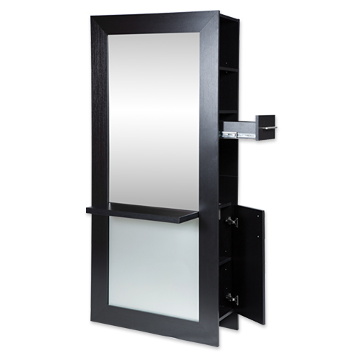 Lauren Full-Length Mirrored Styling Station Black alternative product image 2