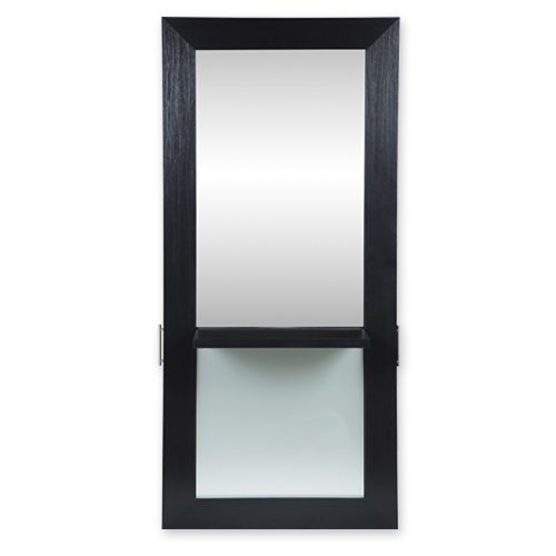 Lauren Full-Length Mirrored Styling Station Black alternative product image 1