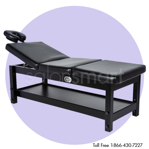 Adjustable Massage / Facial Bed with Black Cushions alternative product image 1