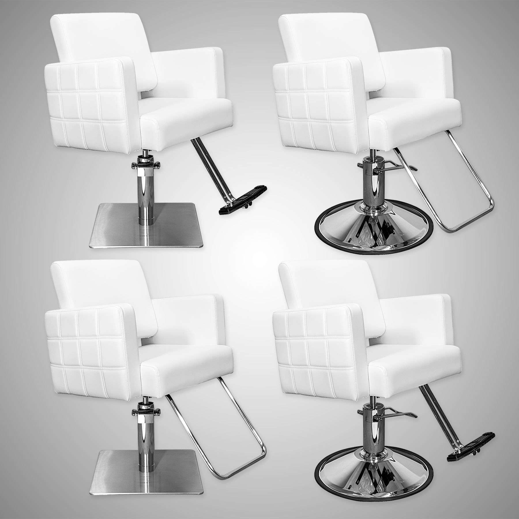 Havana Stylist Chair Quilted White alternative product image 4