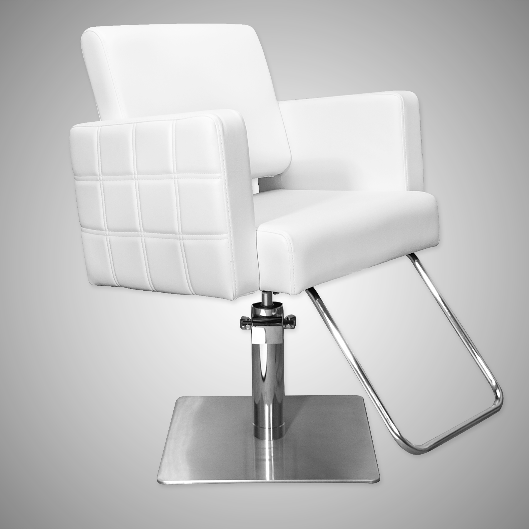 Havana Stylist Chair Quilted White  main product image
