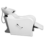 Wave Shampoo Bowl and Chair in White product image