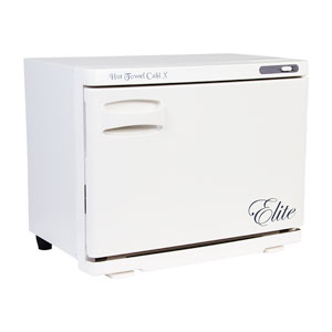 White Elite Hot Towel Warmer Cabby with Pull Down Door product image