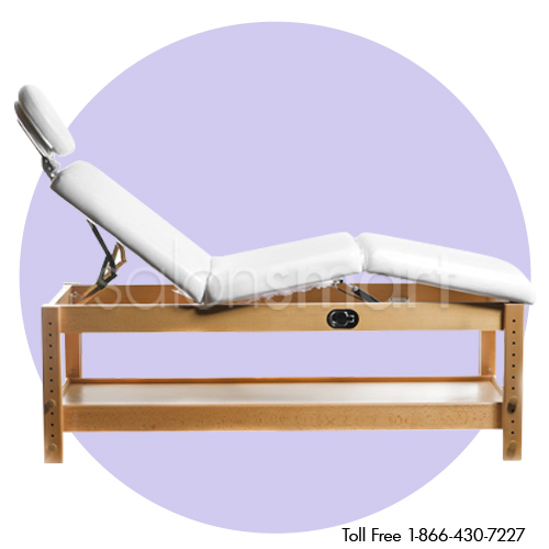 Adjustable Massage / Facial Bed with White Cushions alternative product image 2