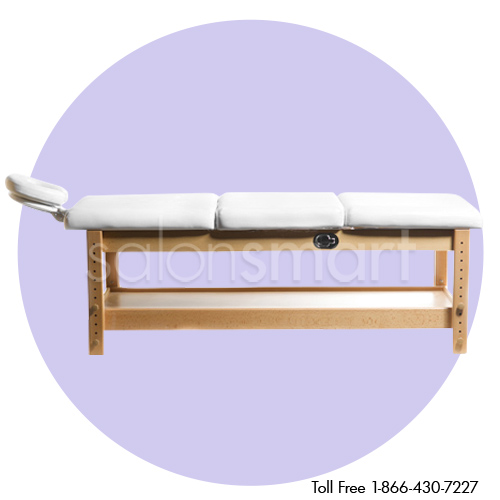 Adjustable Massage / Facial Bed with White Cushions alternative product image 1