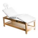 Adjustable Massage / Facial Bed with White Cushions product image