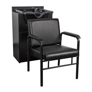 Auto Recline Chair With Shampoo Bowl & Cabinet Package product image
