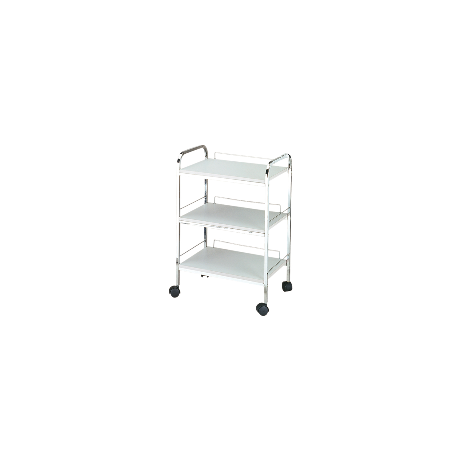 White 3-Shelf Trolley  main product image