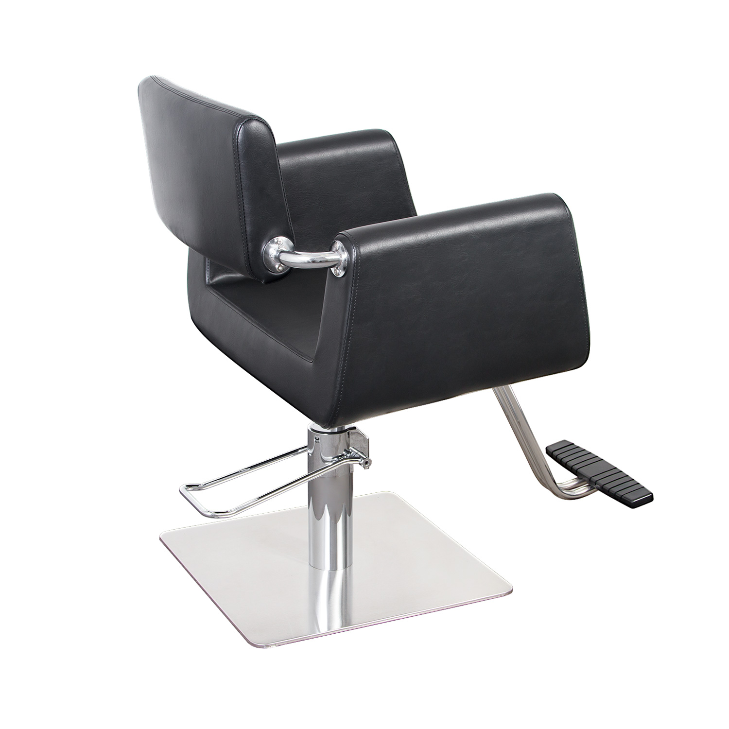 Capelli Modern Hair Chair with Chrome Elbow Brackets alternative product image 2