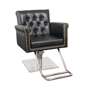 Winston Hair Chair with Nailhead Trim and Tufting product image