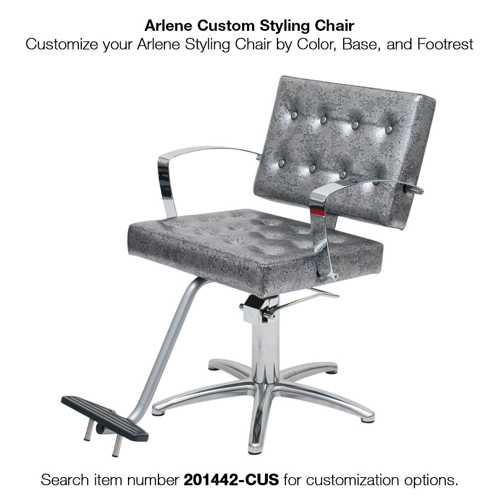 Arlene Salon Styling Chair with Italian Chrome Arms alternative product image 6