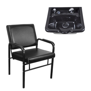Auto-Recline Shampoo Chair & Shampoo Bowl Package product image