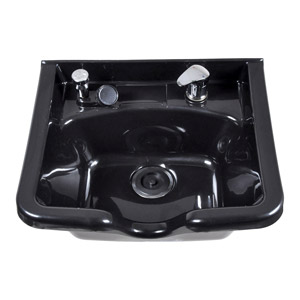 Square Shampoo Bowl with Chrome Faucet product image