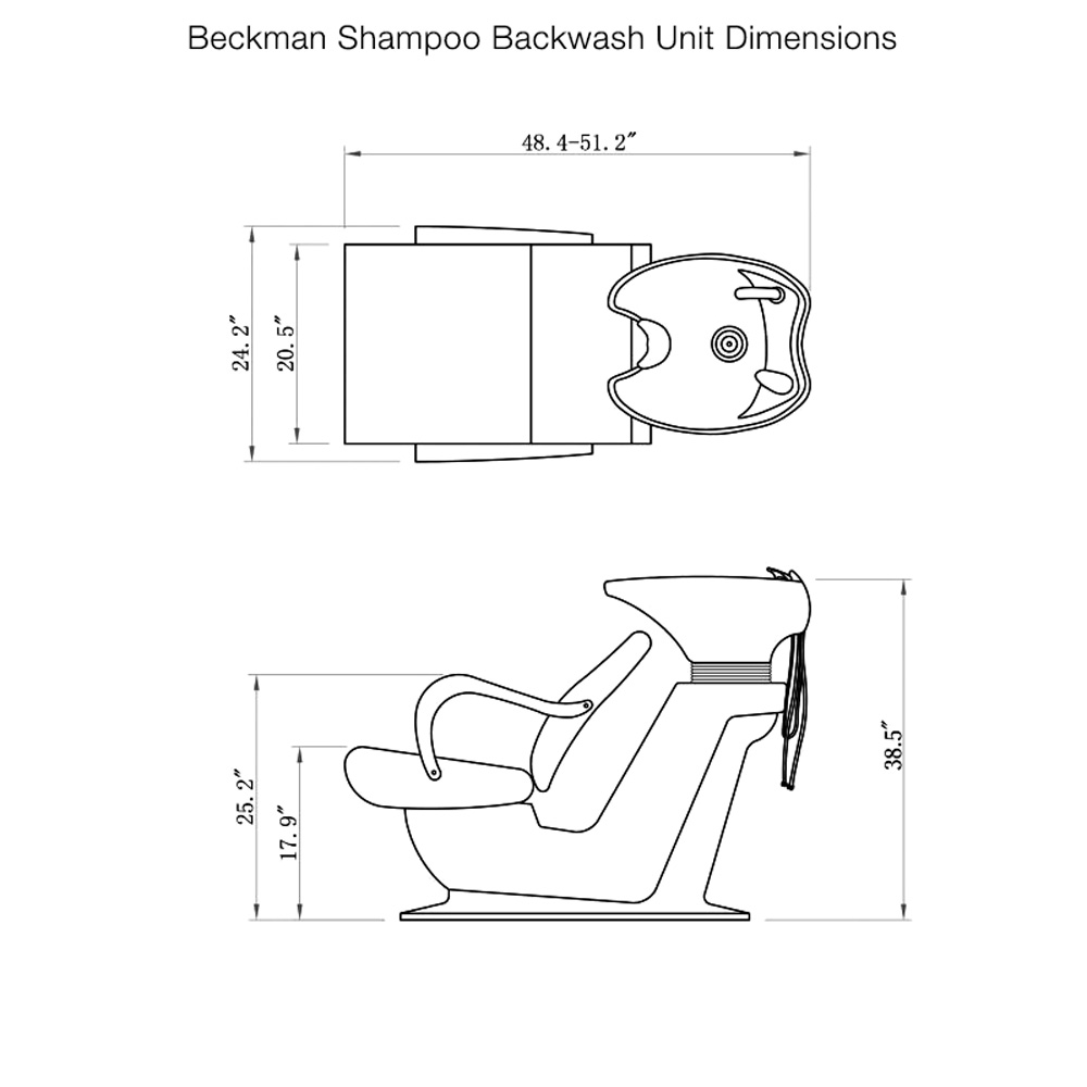 Beckman Shampoo Unit with Adjustable Seat alternative product image 15