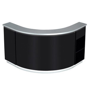 Janus Modular Reception Desk in Black with LED Illumination product image