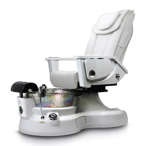 Lenox LX Pipeless Pedicure Spa Chair with White Base and Arms product image