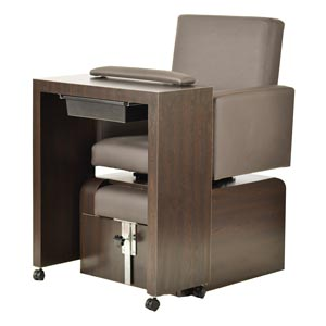 Pibbs PS10 San Remo Pedicure Chair and Manicure Table - Plumbing Free product image