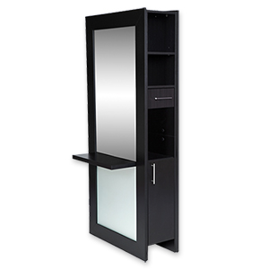 Lauren Full-Length Mirrored Styling Station Black product image