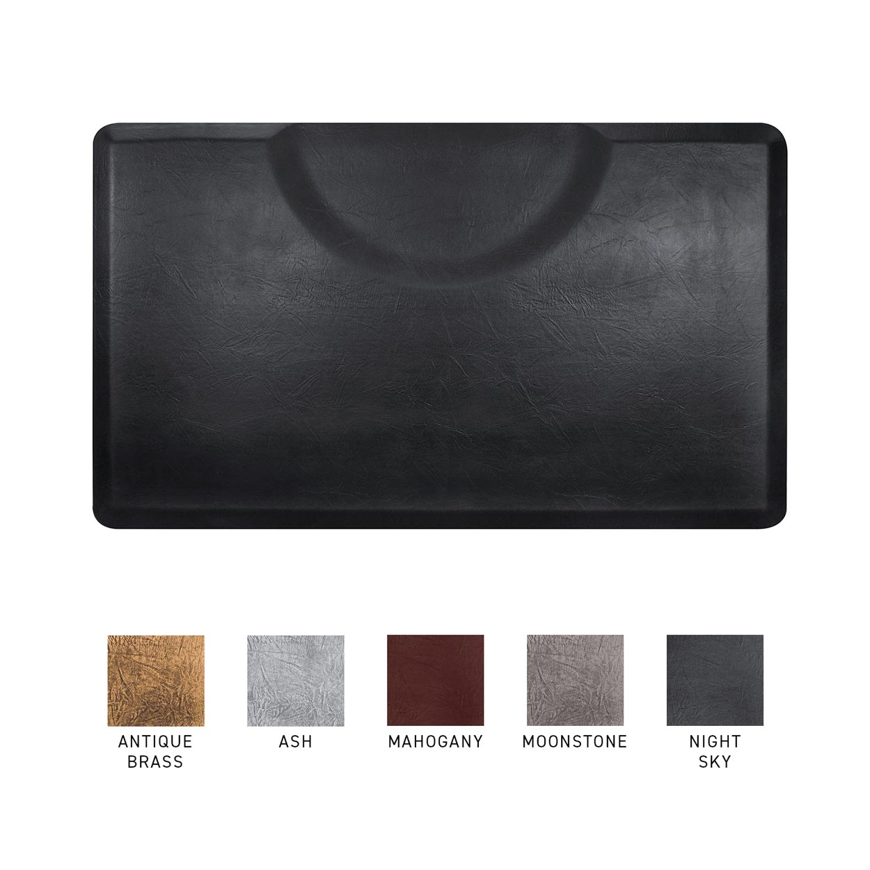 3x5 Vintage Leather Rectangle Anti-Fatigue Salon Mat  main product image