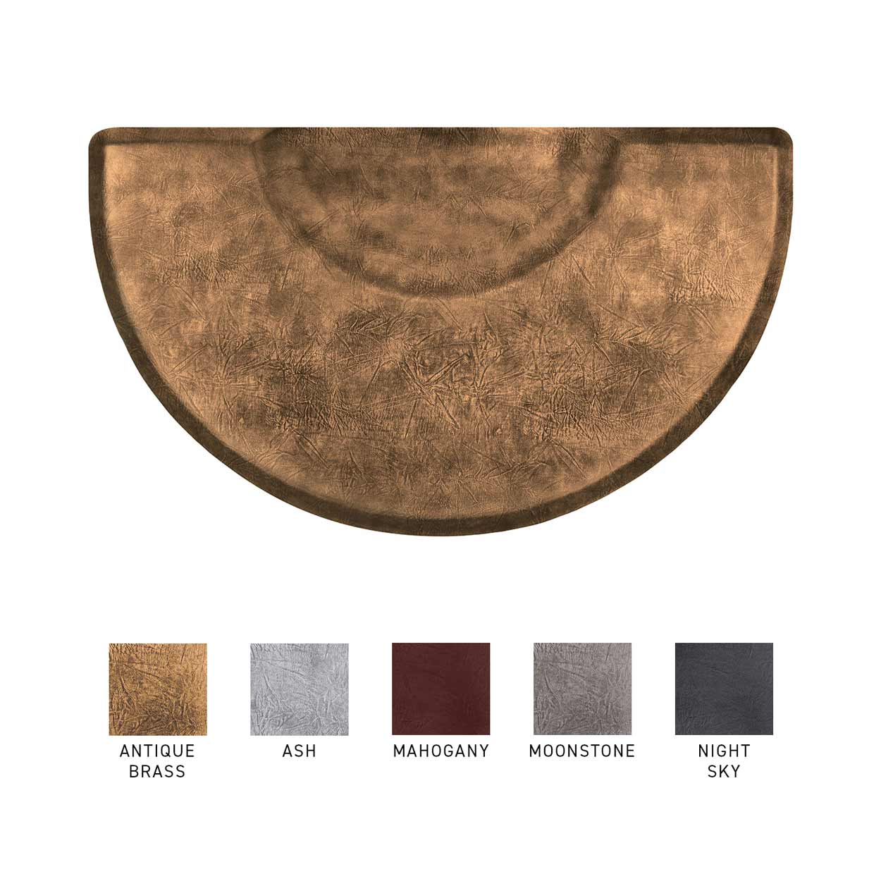 3x5 Vintage Leather Semicircle Anti-Fatigue Salon Mat  main product image
