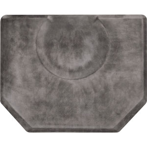 4x5 Vintage Leather Hex Anti-Fatigue Salon Mat product image