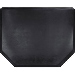 4x5 Vintage Leather Hex Salon Mat Without Chair Impression product image