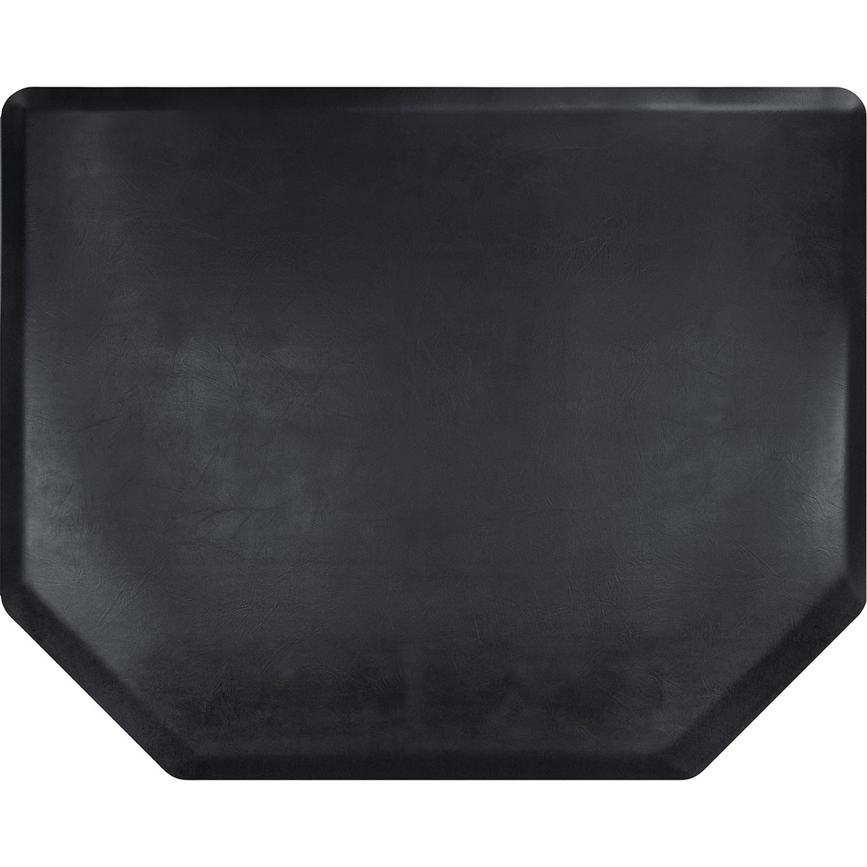 4x5 Vintage Leather Hex Salon Mat Without Chair Impression  main product image