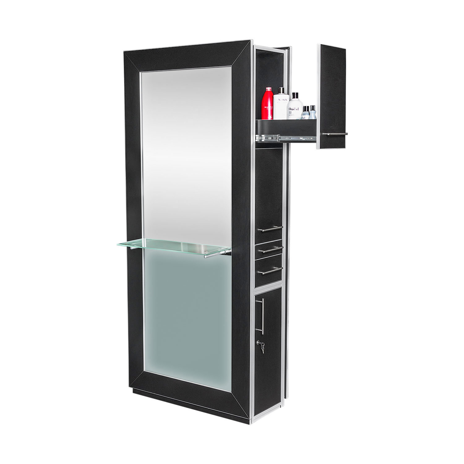 Fusion Mirrored Styling Station Black alternative product image 10