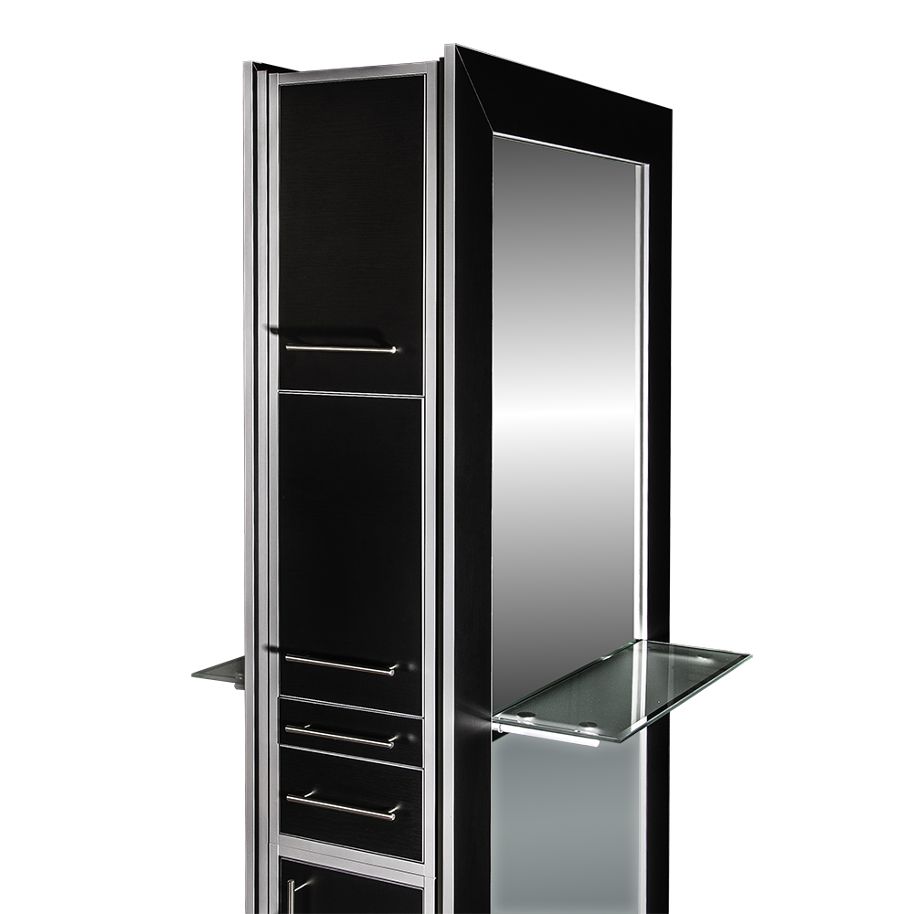 Fusion Double Mirrored Styling Station Black alternative product image 6