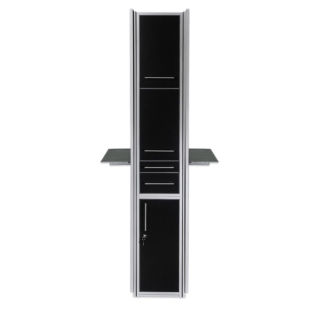 Fusion Double Mirrored Styling Station Black alternative product image 4