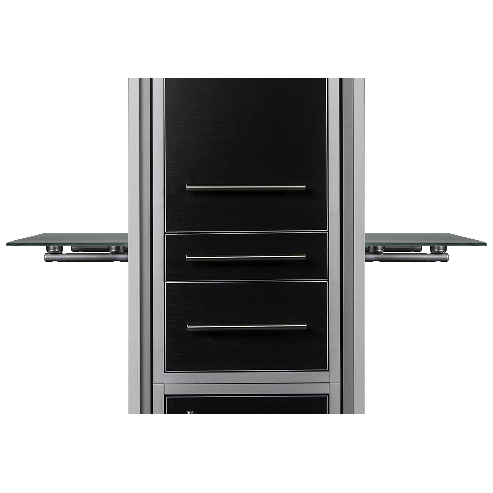 Fusion Double Mirrored Styling Station Black alternative product image 7