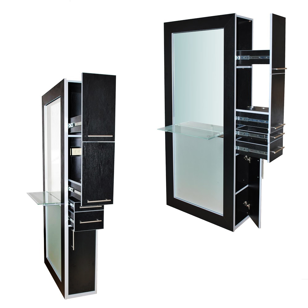 Fusion Mirrored Styling Station Black alternative product image 11