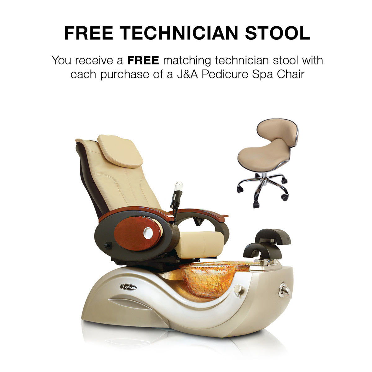 Toepia GX Pipeless Pedicure Spa Chair w/Vented Option alternative product image 3