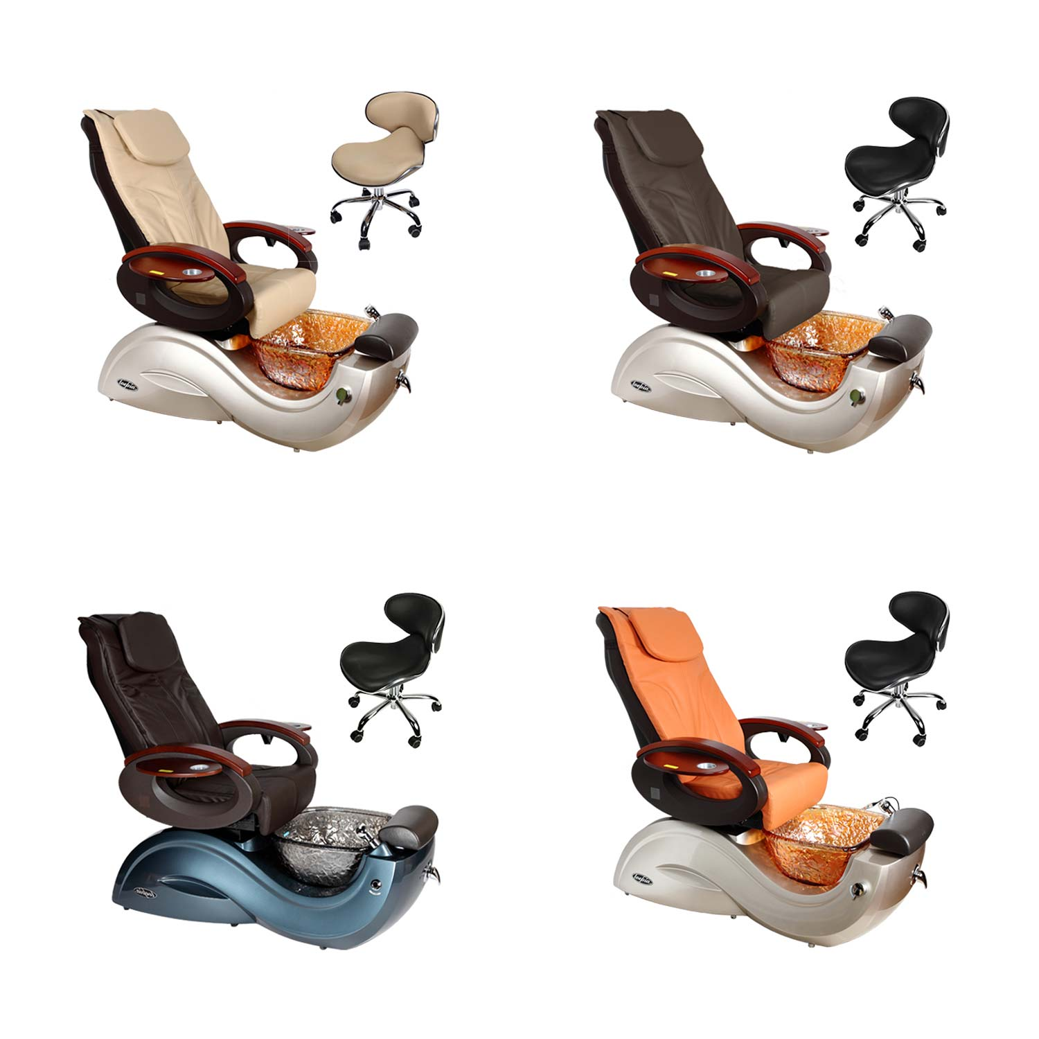 Toepia GX Pipeless Pedicure Spa Chair w/Vented Option alternative product image 1