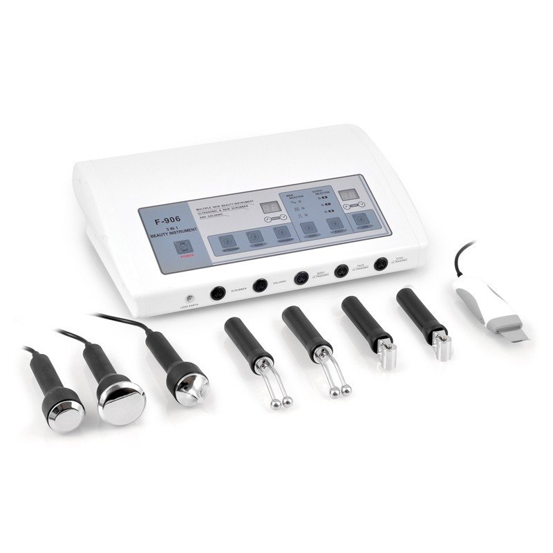 Tri Combi Ultrasonic Skin Scrubber and Galvanic Facial Machine  main product image