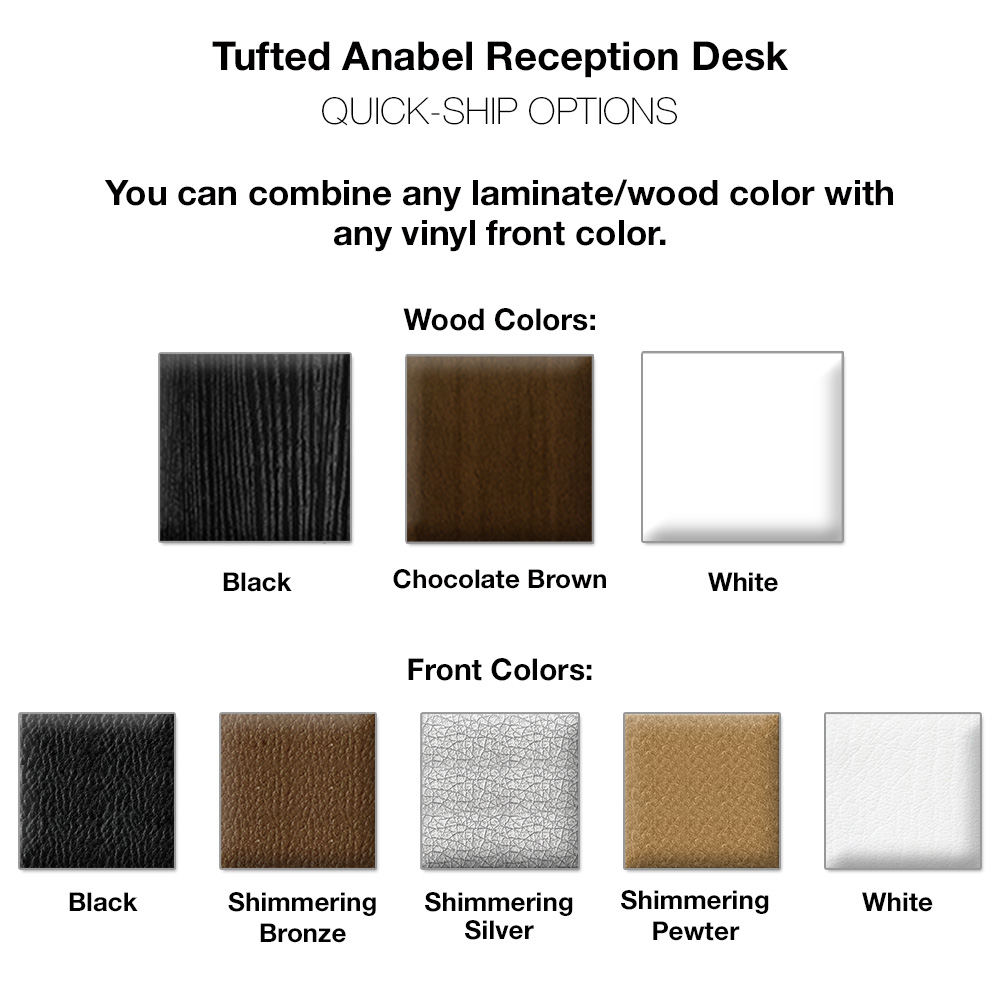 Anabel Tufted Salon Desk alternative product image 4