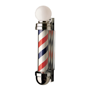 William Marvy Model 333 Non-Revolving Barber Pole with Two Lights product image