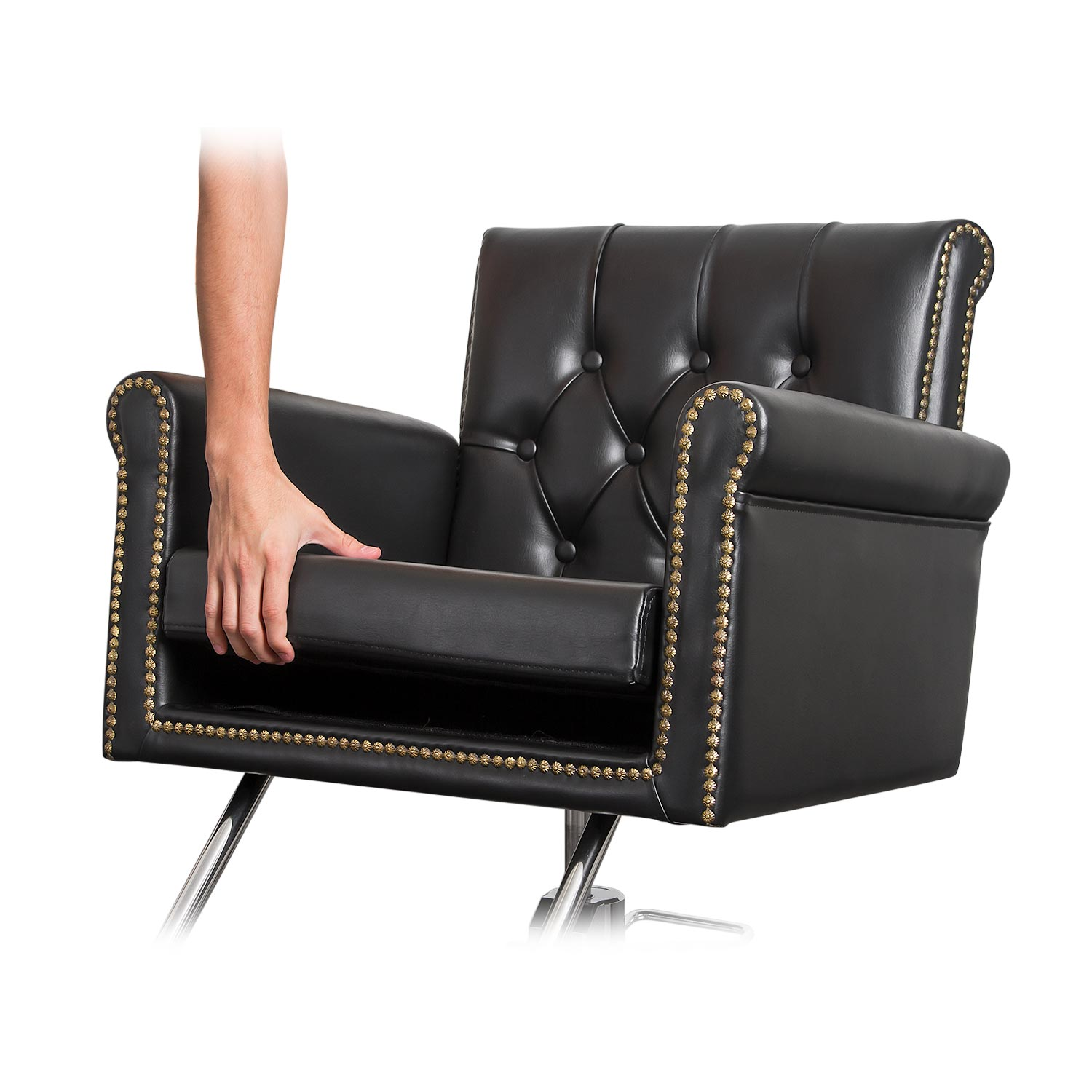 Winston Hair Chair with Nailhead Trim and Tufting alternative product image 5